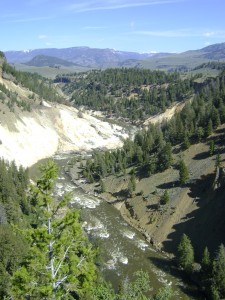 Canyon where we saw goats